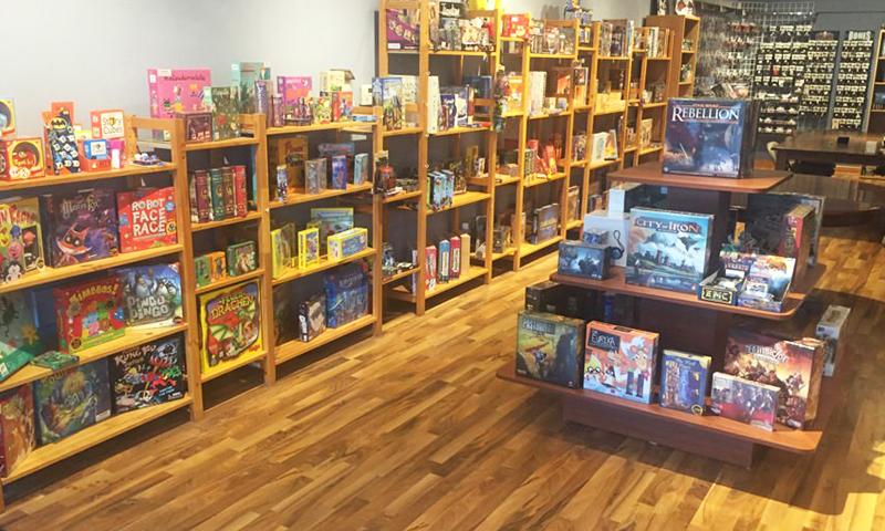 A Fair Game Store, em Downers Grove, IL: uma referência em loja de board games nos Estados Unidos.