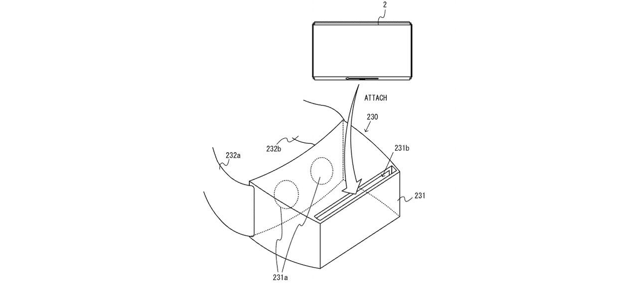 Patente de um Headset VR para o Nintendo Switch
